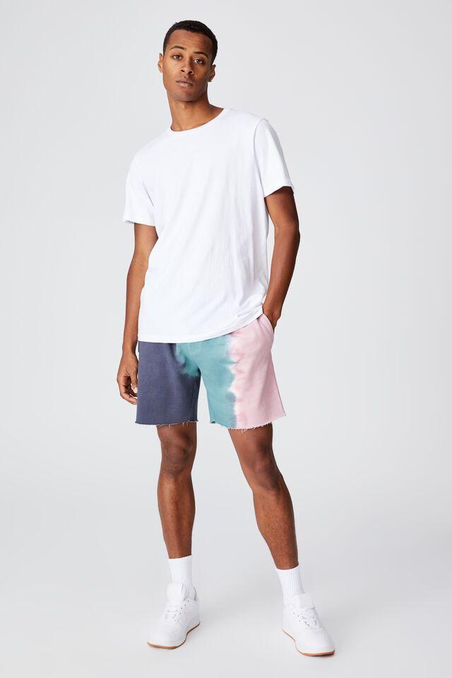 Premium Fleece Short, TEAL PINK DIP DYE
