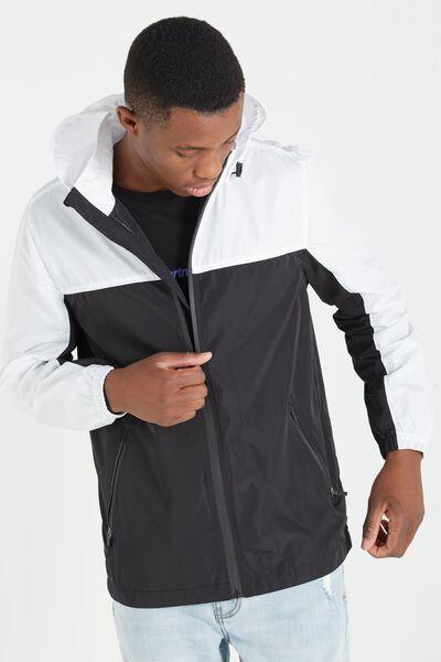 Retro Spray Zip Thru Jacket, BLACK