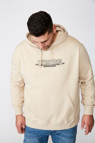 Bg Fleece Pullover 2, STONE CLAY/DETROIT IRON
