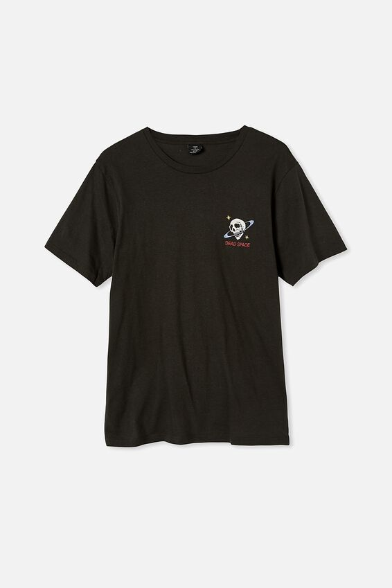 Tbar Art T-Shirt, WASHED BLACK/DEAD SPACE