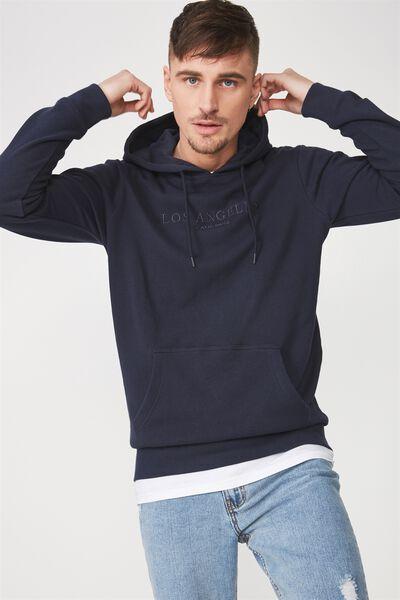 Fleece Pullover 2, TRUE NAVY/LOS ANGELES CALIF
