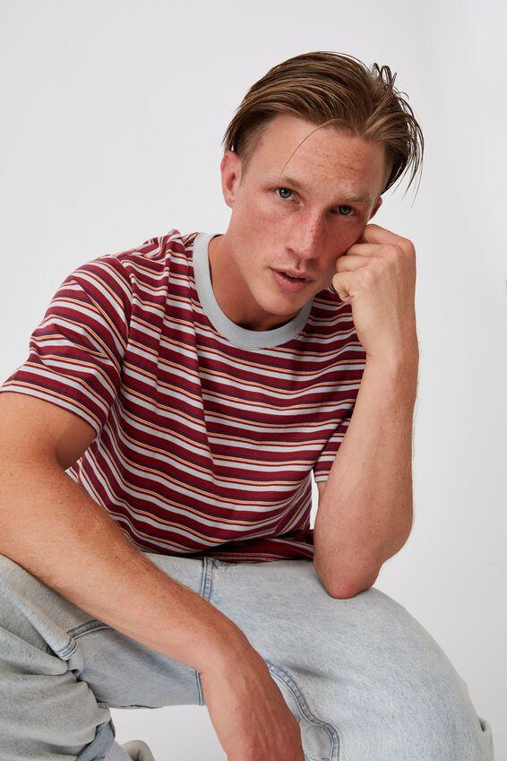 Dylan T-Shirt, ROSEWOOD FUN STRIPE