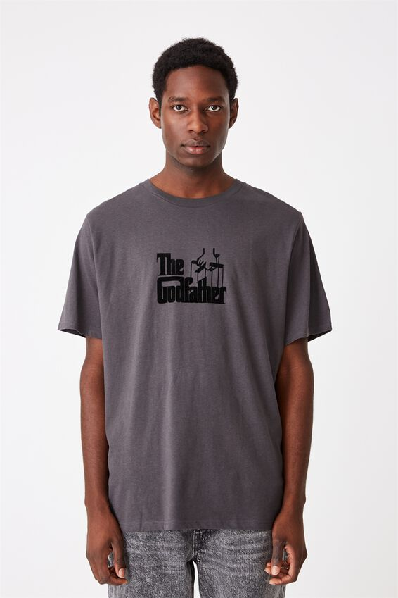 Tbar Collab Movie And Tv T-Shirt, LCN PAR SK8 FADED SLATE THE GODFATHER - LOGO