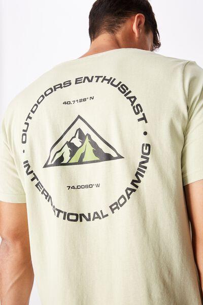 Tbar Souvenir T-Shirt, PASTEL GREEN/INTL ROAMING