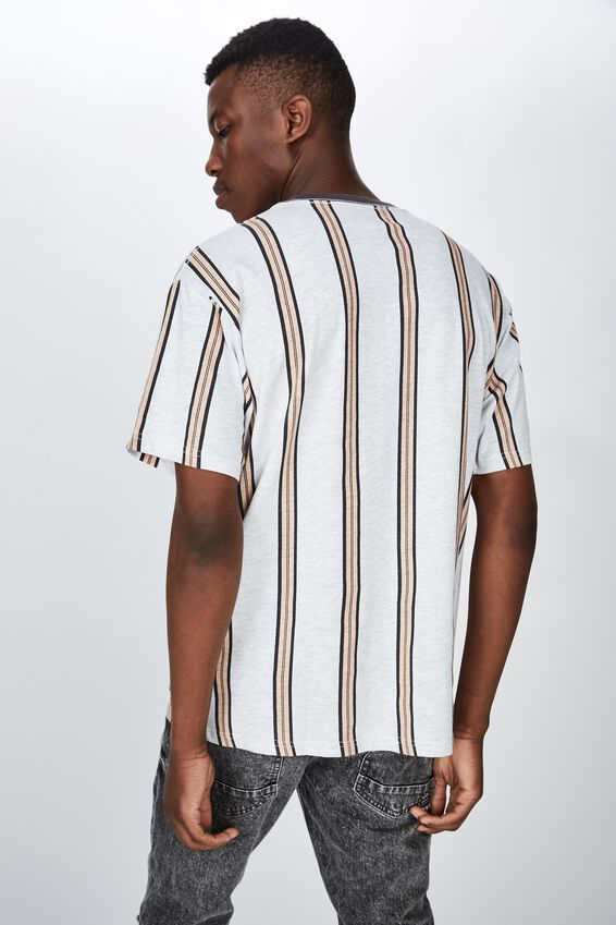 Downtown Loose Fit Tee, DIRTY PINK SPACE STRIPE