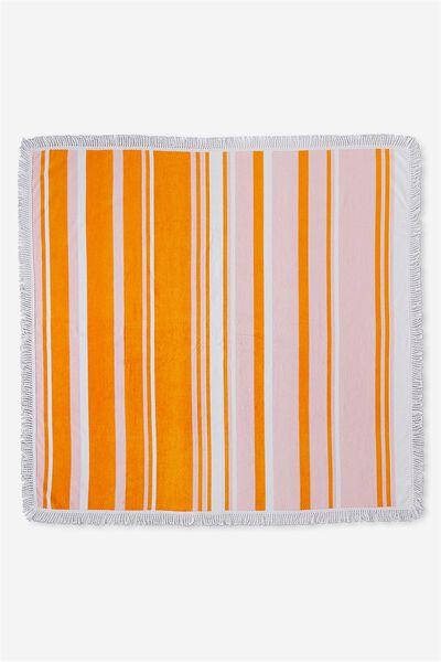 Double Up Boyfriend Towel, PINK/ORANGE STRIPE