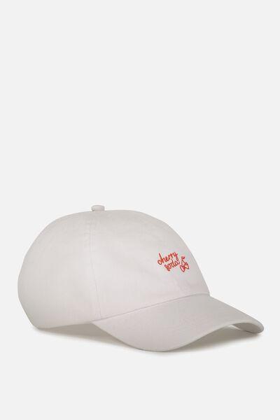 Kaia Cap, WHITE/CHERRY SODA