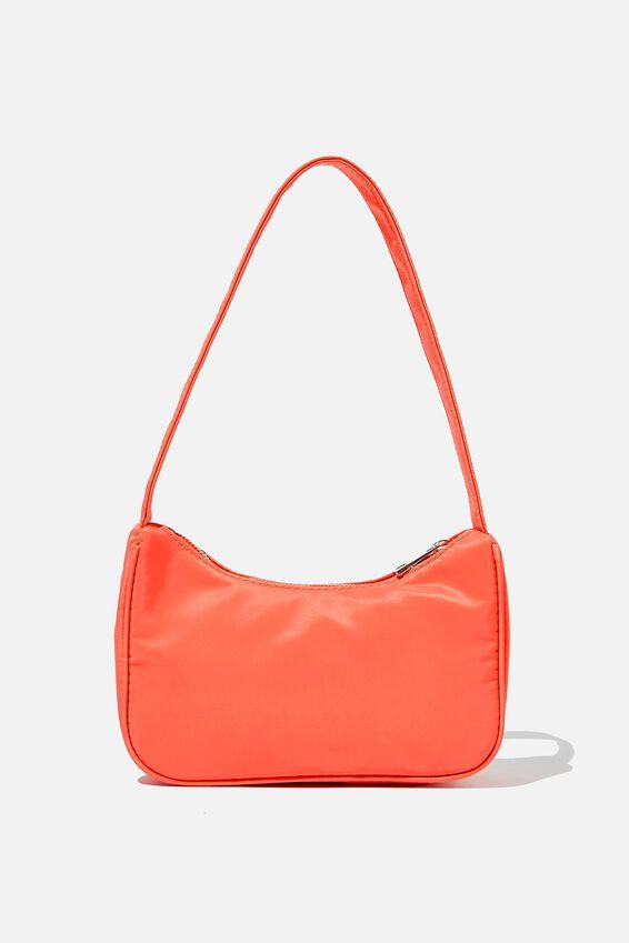 Nylon Underarm Bag, PINK GRAPEFRUIT
