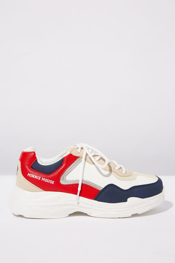 Mickey Erika Sneaker, LCN DIS RED/NAVY MINNIE