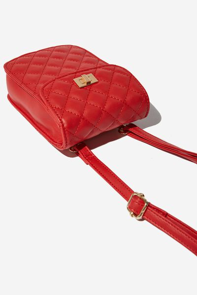 Danielle Quilted Belt Bag, RED