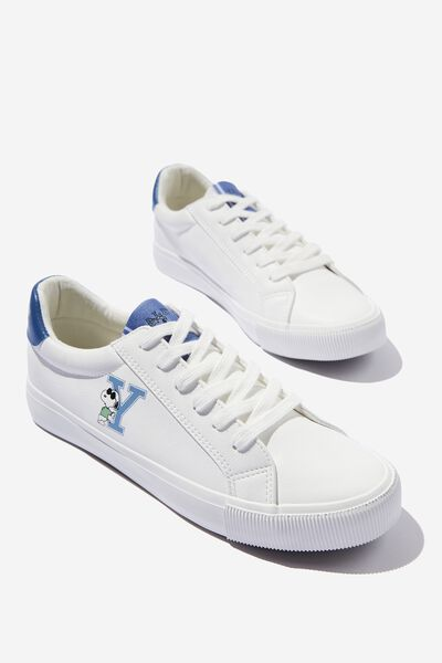Lcn Emily Sleek Low Rise Sneaker, LCN PEA WHITE SNOOPY YALE