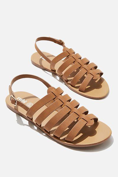 Miller Gladiator Sandal, TAN NUBUCK