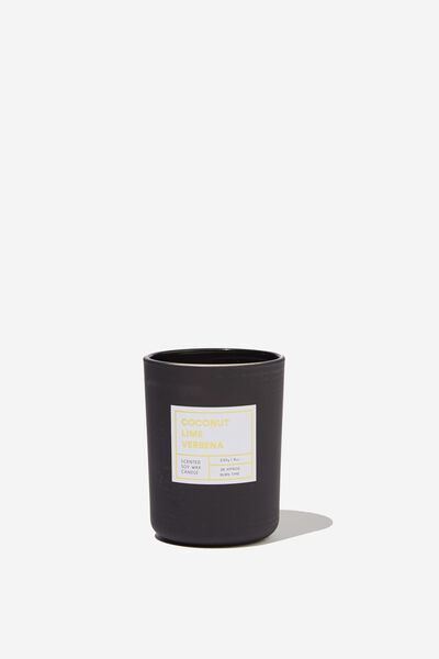 Modern Candle, COCONUT LIME VERBENA/BLACK