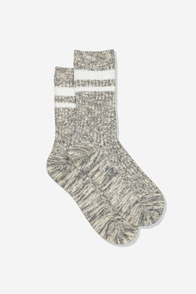 Hiking Sock, BLACK/WHITE STRIPE