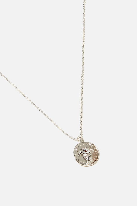 Brighter Days Pendant Necklace, BULL COIN SILVER
