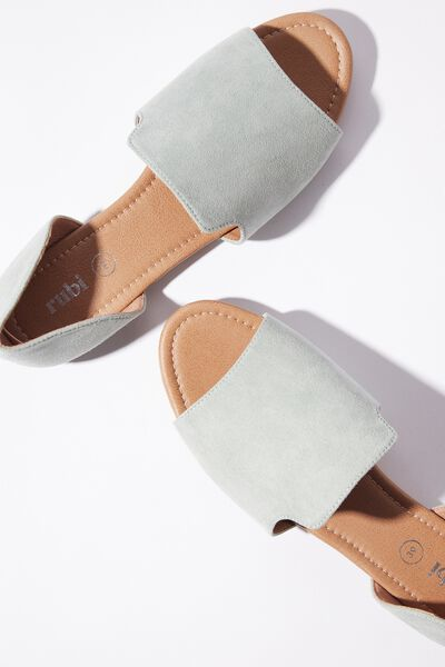 Sonia Slipper Cut Peep, SAGE GREEN MICRO