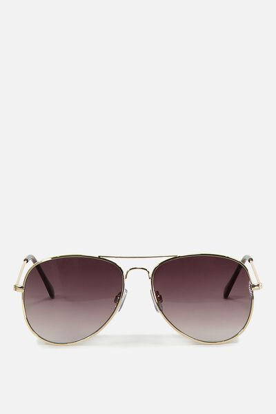 Arabella Metal Sunglasses, GOLD/GREY
