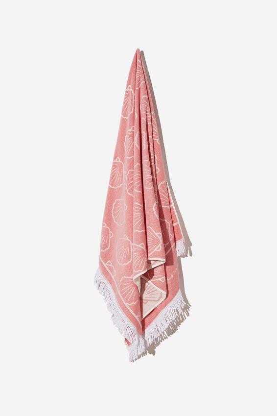 Bondi Rectangle Towel, CALI PINK SHELL
