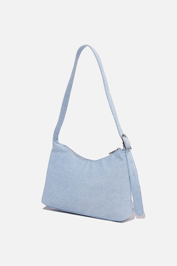 Britt Buckle Slouch Bag, BURLEIGH BLUE DENIM