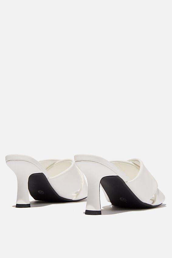 Sofia Soft Volume Heel, WHITE PU