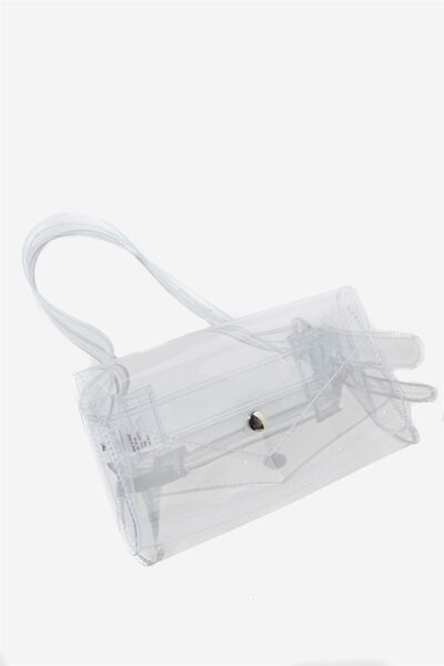 Transparent Belt Bag, CLEAR