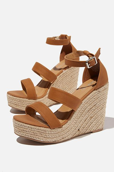 Brady Wedge Espadrille, TAN NUBUCK