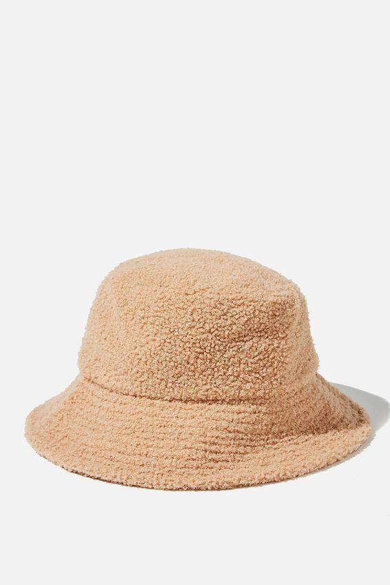 Bianca Bucket Hat, TAN SHERPA