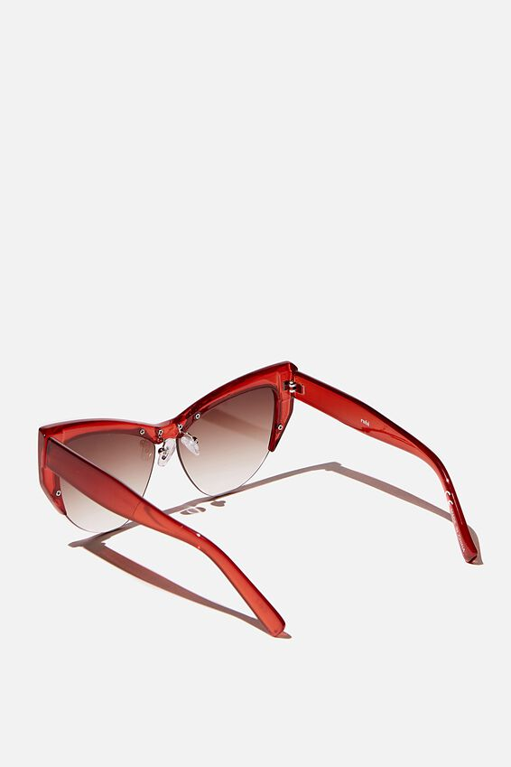 Ash Sports Cateye Limited Edition Sunglasses, DARK WINE