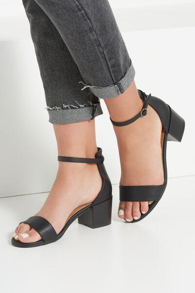 Ivy Low Block Heel, BLACK SMOOTH