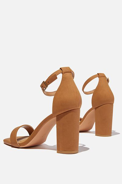 San Square Toe Heel, TAN NUBUCK