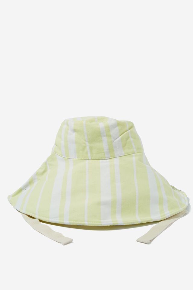 Alice Wide Brim Sun Hat, SUNNY LIME STRIPE