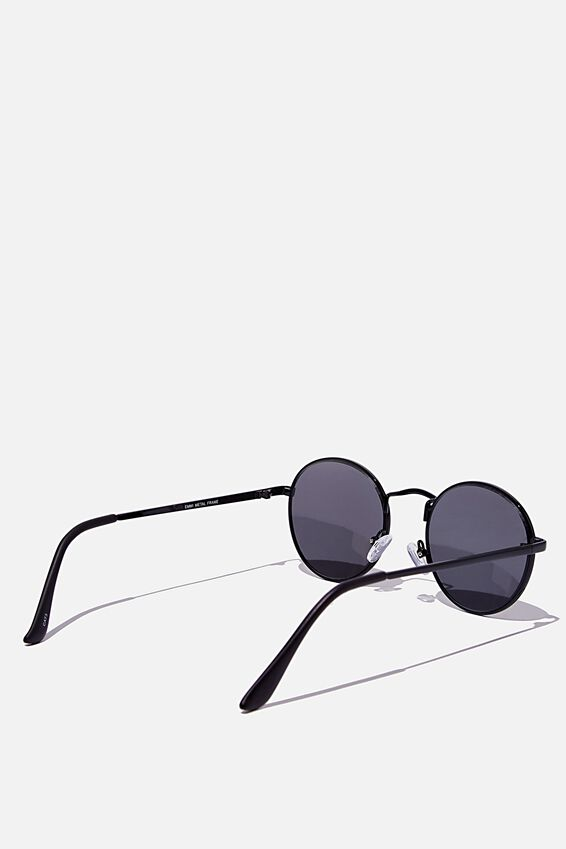 Emmi Metal Frame Sunglasses, BLACK