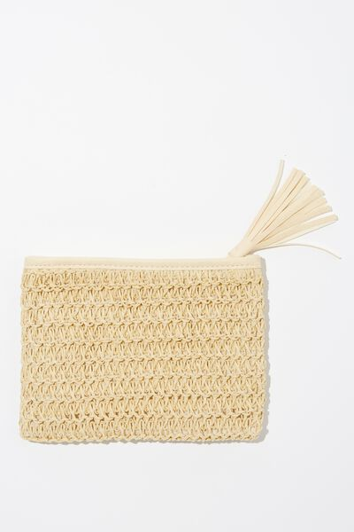 Sienna Cosmetic Case, LIGHT NATURAL WOVEN