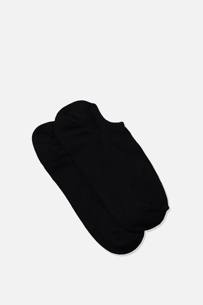 Sports Low Cut Sock, BLACK