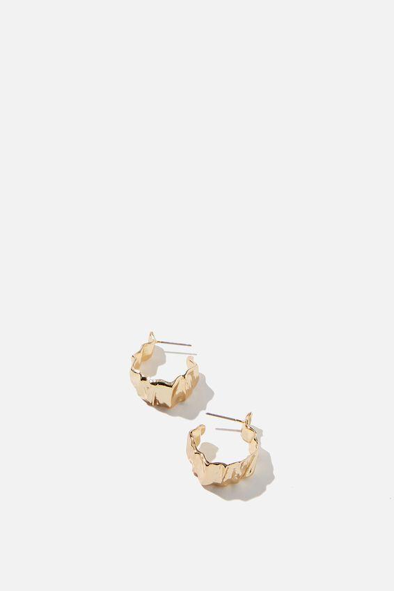 Jess Small Molten Hoop Bar, GOLD