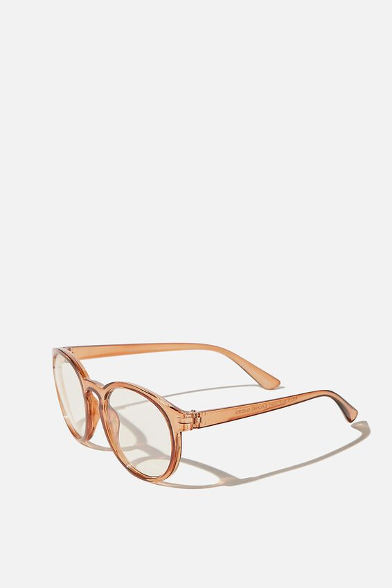 Rollin Blue Light Blocking Glasses, RUST CRYSTAL