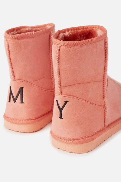 Personalised Short Home Boot, CLAY