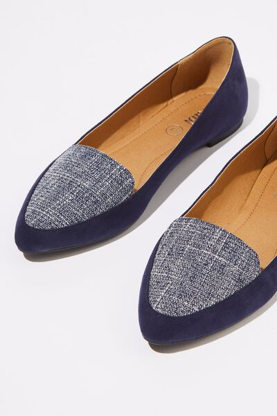 Peta Point Loafer, NAVY/NAVY BOUCLE