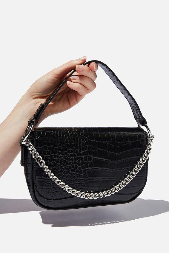 Naomi Cross Body Bag, BLACK TEXTURE