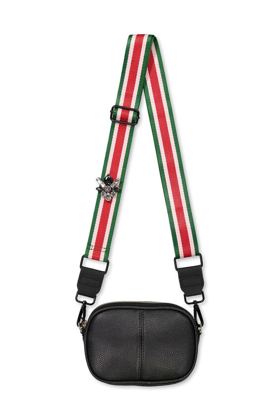 Guitar Strap, RED/PINK/GREEN - JEWEL