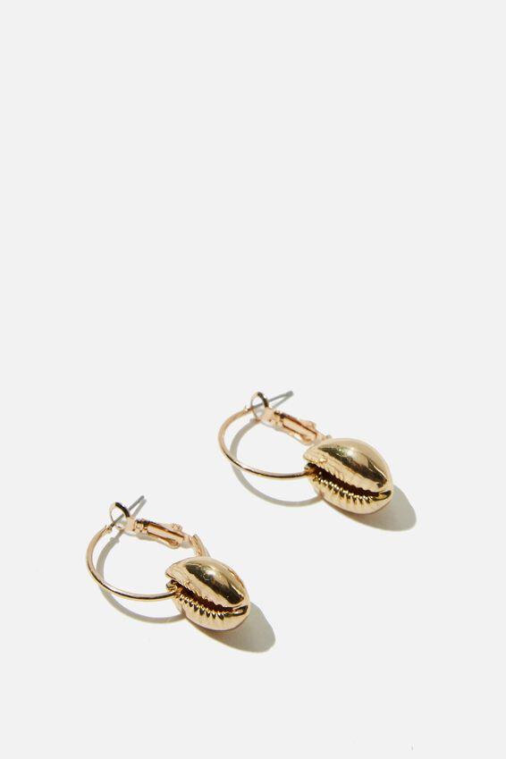 Nusa Dua Earring, NATURAL GOLD
