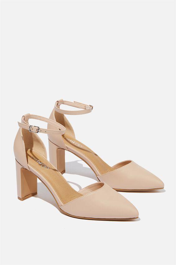 Jeanne Closed Toe Heel, PALE TAUPE