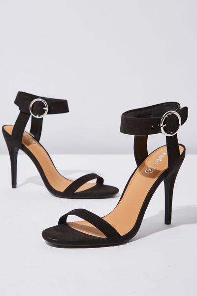 Skylar Stiletto Heel, BLACK MICRO