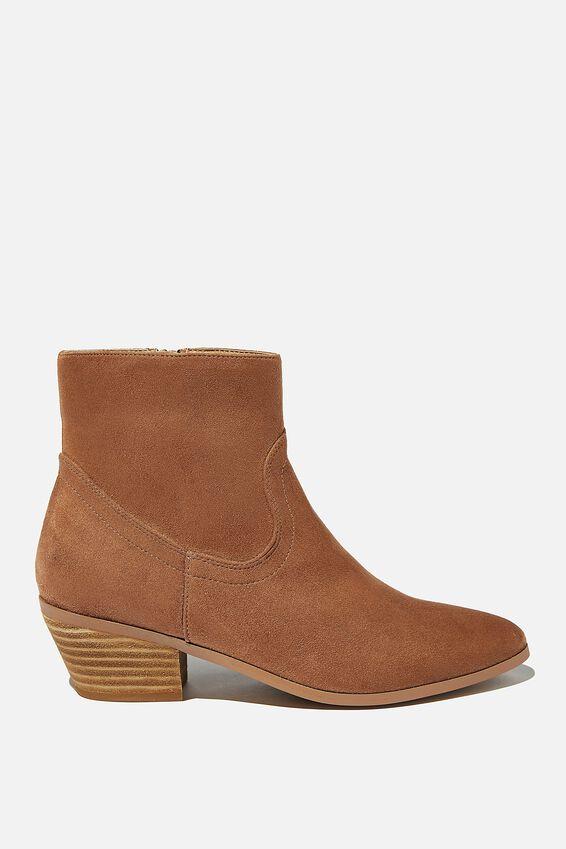 Robyn Western Boot, TAN MICRO