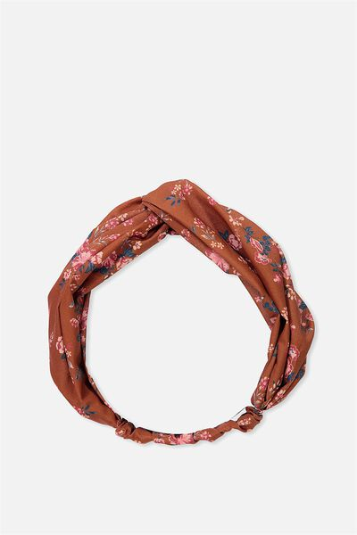Manhattan Headband, RUST FLORAL