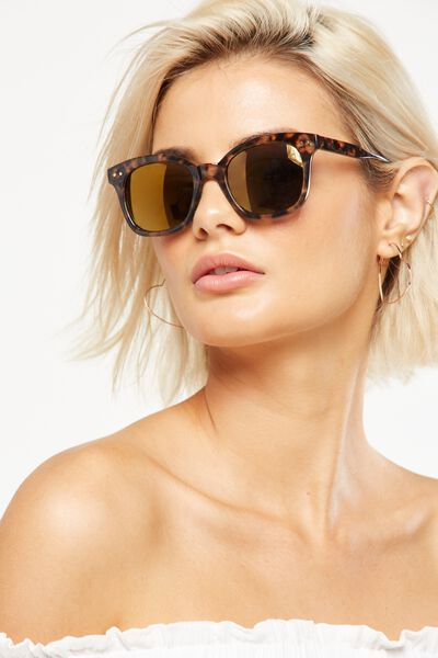 Kendra Full Frame Sunglasses, S.MILKY BEIGE/GOLD