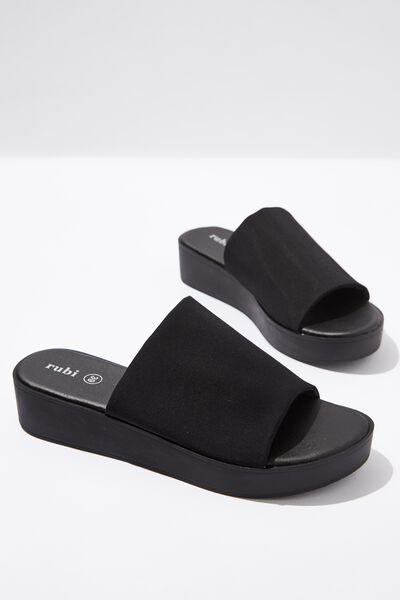 Adina Flatform Sandal, BLACK NEOPRENE