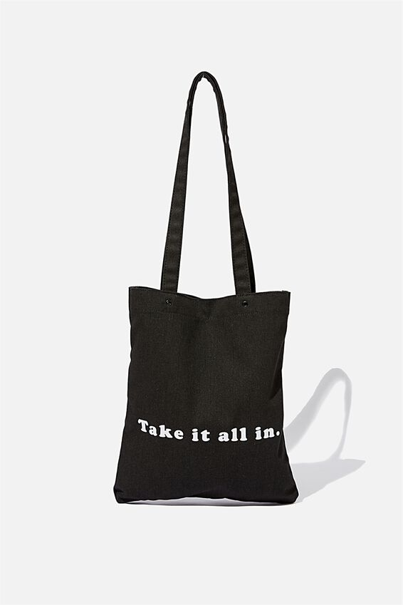 Take It All In Tote, BLACK