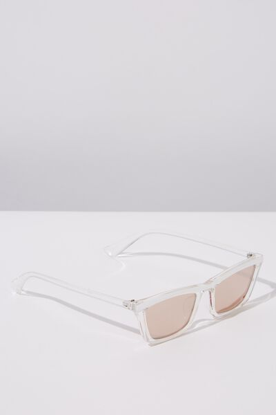 Tommi Low Profile Sunglasses, S.CRYSTAL WHITE