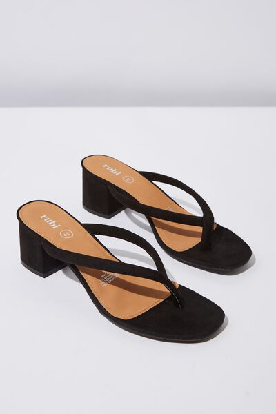 Becky Thong Heel, BLACK MICRO